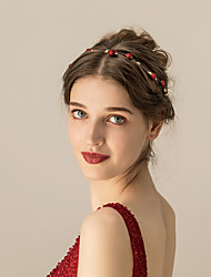 cheap -Alloy Headdress / Hair Accessory / Earring with Metal 1 pc Wedding / Party / Evening Headpiece
