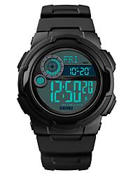 Недорогие -SKMEI Муж. Армейские часы Цифровой силиконовый Черный 50 m Армия Будильник Секундомер Цифровой На открытом воздухе Мода - Черный Темно-синий Светло-синий Один год Срок службы батареи