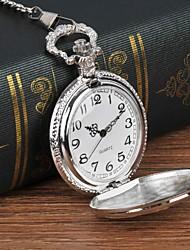 Недорогие -Муж. Карманные часы Кварцевый Серебристый металл Повседневные часы Крупный циферблат Аналоговый Традиционный / винтаж На каждый день - Серебряный