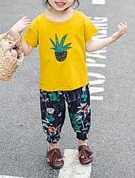 povoljno -Dijete Djevojčice Osnovni Voće Kratkih rukava Regularna Pamuk Komplet odjeće Obala