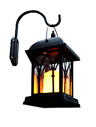 preiswerte -1pc 0.2 W Leuchte für Rasenplatz / Wandleuchten im Freien / LED-Straßenleuchte Solar Gelb 1.2 V Außenbeleuchtung / Hof / Garten LED-Perlen