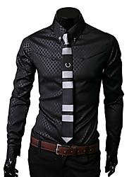 Недорогие -Муж. Рубашка Однотонный Темно синий XL