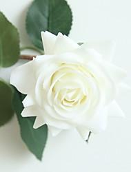 hesapli -Yapay Çiçekler 1 şube Klasik Modern Çağdaş Güller Masaüstü Çiçeği