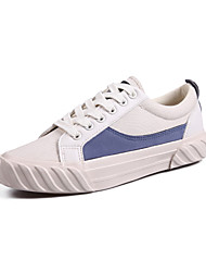 رخيصةأون -نسائي كانفا للربيع والصيف كلاسيكي / شيوع أحذية رياضية المشي كعب مسطخ أمام الحذاء على شكل دائري أصفر / أزرق / ألوان متناوبة