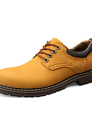tanie -Męskie Skórzane buty Skóra nappa Wiosna / Jesień Sportowy / Styl preppy Oksfordki Antypoślizgowe Czarny / Żółty / Khaki