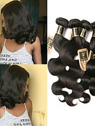 olcso -4 csomópont Brazil haj Hullámos haj 100% Remy hajszövési csomó Az emberi haj sző Bundle Hair Emberi haj tincsek 8-28 hüvelyk Természetes szín Emberi haj sző Szagmentes Divatos dizájn Ajándék Human