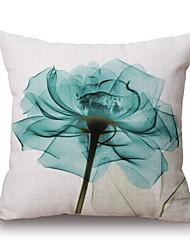 preiswerte -1 Stück Baumwolle / Leinen Kissenbezug und Einsatz, Blumenmuster Zeitgenössisch Modern Dekokissen