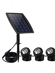 billige -1pc 3 W Solar Wall Light Vanntett / Solar / Dekorativ Multifarget 3.7 V Utendørsbelysning 15 LED perler