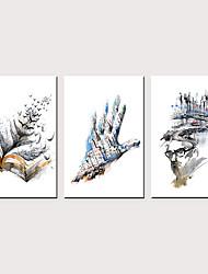 levne -Grafika Válcované plátno - Abstraktní Inspirační Klasické Tři panely