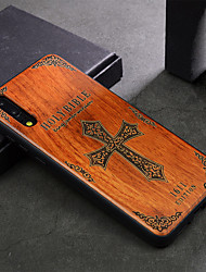 cheap -Case For Huawei P20 Shockproof Back Cover Wood Grain Hard Wooden for Huawei P20