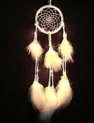 Недорогие -новинка уникальная ловушка для сна светодиодная подсветка колокольчики цветные бусы и перья подвеска поделки творческие подарки