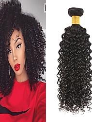 economico -6 pacchi Brasiliano Kinky Curly capelli naturali Remy Ciocche a onde capelli veri Bundle di capelli Un pacchetto di soluzioni 8-28inch Colore Naturale Tessiture capelli umani Cascata Carino Disegni