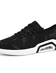 baratos -Homens Sapatos Confortáveis Tissage Volant Primavera Tênis Corrida Branco / Preto e Dourado / Preto / Vermelho