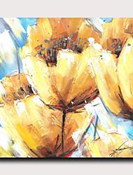 hesapli -Boyama Gerdirilmiş Tuval Resimleri - Soyut Botanik Modern