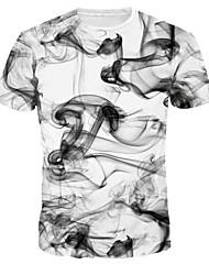 billige -Herre - Grafisk T-shirt Hvid XL