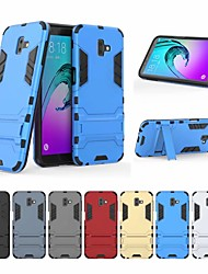 cheap -Case For Samsung Galaxy J6 Shockproof / with Stand Back Cover Solid Colored Hard PC for J6 Plus