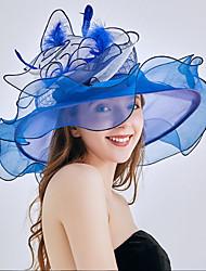 رخيصةأون -لؤلؤ تقليدي / الأورجانزا قطع زينة الرأس / غطاء للرأس / خوذة مع عقدة / ورد / زهور 1 زفاف / الأماكن المفتوحة خوذة