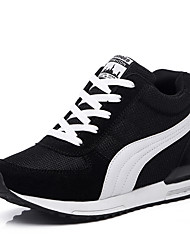 billiga -Dam Stickad / Nät Vår & Höst Sportig / Ledigt Sneakers Fitness och crosstraining Hidden Heel Svart / Grå / Blå