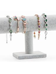 billiga -Lagring Organisation Smyckesamling Trä / Duk Runda Ett lager