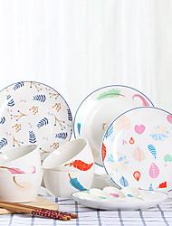 billige -16 Piece Serveringskåle Kinesisk sæt porcelæn Porcelæn Kreativ