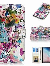 זול -מגן עבור Samsung Galaxy S9 Plus / S8 Plus ארנק / מחזיק כרטיסים / נפתח-נסגר כיסוי מלא חיה קשיח עור PU ל S9 / S9 Plus / S8 Plus