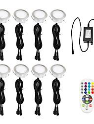 hesapli -ywxlight® euro fiş 8 led ışık güverte ip67 su geçirmez yeraltı ışık led zemin ışık duvar ışık ac 100-240v