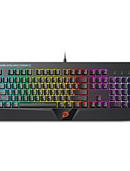 levne -dareu ek832 usb drátová mechanická klávesnice mechanická svítící vícebarevná podsvícená 104 ks klíčů