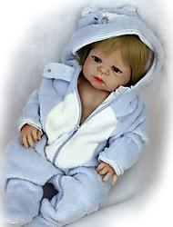 abordables -FeelWind Muñecas reborn Bebés Niños Bebés Niñas 22 pulgada Cuerpo completo de silicona Silicona - Bonito Niños / Adolescentes Encantador Kid de Unisex Juguet Regalo