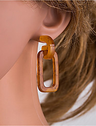cheap -Women's Brown White Hollow Out Drop Earrings Earrings European Jewelry Dark Brown / Beige / White For Daily 1 Pair