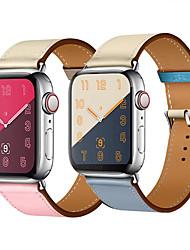 voordelige -Horlogeband voor Apple Watch Series 4/3/2/1 Apple Leren lus Echt leer Polsband