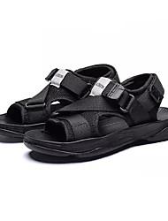 Недорогие -Мальчики Обувь Сетка / Эластичная ткань Лето Удобная обувь Сандалии для Дети Черный / Тёмно-синий