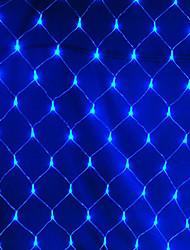 billiga -2x2m Ljusslingor 144 lysdioder RGB / Vit / Blå Vattentät / Kreativ / Party 220-240 V 1set
