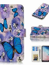 cheap -Case For Samsung Galaxy S9 Plus / S8 Plus Wallet / Card Holder / Flip Full Body Cases Butterfly Hard PU Leather for S9 / S9 Plus / S8 Plus