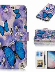 billiga -fodral Till Samsung Galaxy S9 Plus / S8 Plus Plånbok / Korthållare / Lucka Fodral Fjäril Hårt PU läder för S9 / S9 Plus / S8 Plus