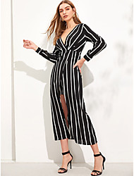 preiswerte -A-Linie V-Wire Ausschnitt Tee-Länge Chiffon Kleid mit durch LAN TING Express