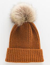 voordelige -Dames Actief leuke Style Wol,Effen Floppy hoed-Herfst Winter Geel Wijn Lichtgrijs