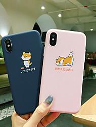 Недорогие -чехол для apple iphone xs max / iphone x мягкий силиконовый противоударный яблочный защитный чехол мультфильм тпу шаблон сумка цветок мягкий пластик для iphone 6 / iphone 6s plus / iphone 8