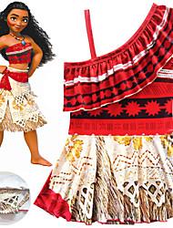 ราคาถูก -ชุดว่ายน้ำ ชุดว่ายน้ำชุดคอสเพลย์ สาวบี สำหรับเด็ก คอสเพลย์และคอสตูม คอสเพลย์ วันฮาโลวีน ทับทิม / สีเหลือง Printing Polyster เด็กผู้หญิง วันคริสต์มาส วันฮาโลวีน เทศกาลคานาวาล / ความยืดหยุ่นสูง
