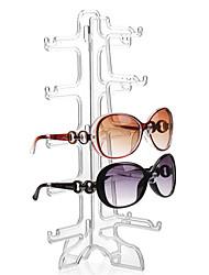 hesapli -Güneş gözlüğü gösterisi depolama raf basit şeffaf beş çift gözlük tutucu