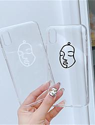 povoljno -Θήκη Za Apple iPhone X / iPhone XS Max Prozirno / Uzorak Stražnja maska Prozirno Mekano TPU za iPhone XS / iPhone XR / iPhone XS Max
