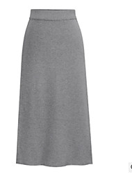 cheap -Women's Street chic Bodycon Skirts - Solid Colored
