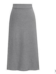 זול -אחיד - חצאיות צינור סגנון רחוב בגדי ריקוד נשים
