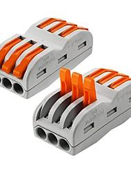 Недорогие -ZDM® 2pcs Трехнаправленные / Аксессуары для ламп / Газонокосилка Пластиковые & Металл Электрический разъем для светодиодной полосы света