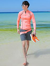 halpa -JIAAO Miesten Skin-tyyppinen märkäpuku Sukelluspuvut UV-aurinkosuojaus Tuulenkestävä Full Body Uinti Sukellus Yhtenäinen Patchwork Syksy Kevät Kesä / Elastinen