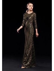 economico -A tubino Con decorazione gioiello Lungo Con strass Vestito con Lustrini di LAN TING Express