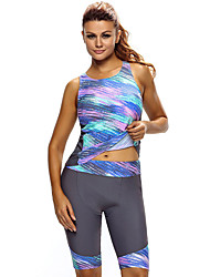 cheap -Women's Rash Guard Dive Skin Suit UV Sun Protection Quick Dry Wearable Nylon Sleeveless Swimwear Beach Wear Swimwear Patchwork Swimming / Stretchy