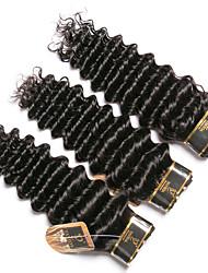 olcso -3 csomag Brazil haj Mély hullám 100% Remy hajszövési csomó Az emberi haj sző Bundle Hair Emberi haj tincsek 8-28 hüvelyk Természetes szín Emberi haj sző Szagmentes Kreatív Selymes Human Hair