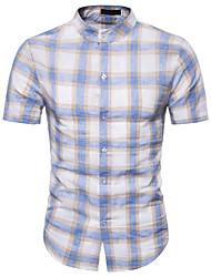 お買い得  -男性用 Tシャツ カラーブロック ブルー L
