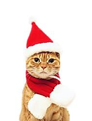 hesapli -Kediler Kıyafetler Saç Süsleri Saç Aksesuarları Karton Modellendirme Cosplay Karakter Noel Kumaş Fuşya Kırmzı Pembe