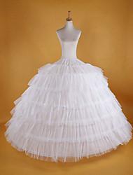 Недорогие -Невеста Нижняя юбка пачка Под юбкой 1950-е года Белый Нижняя юбка / Кринолин
